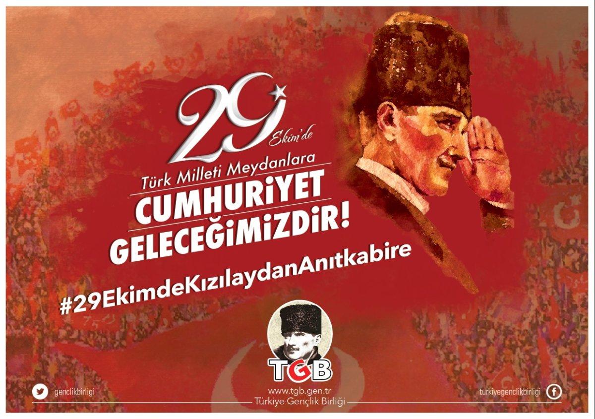 Türk Milleti 29 Ekim'de Meydanlarda! İşte İl İl Eylem Bilgileri