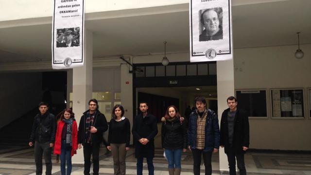 Ankara Üniversitesi öğrencileri Uğur Mumcu ve Gaffar Okkan'ı unutmadı!