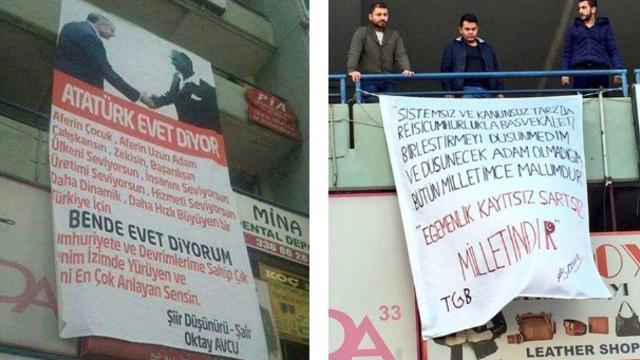 Mustafa Kemal Atatürk'ten o pankarta cevap!