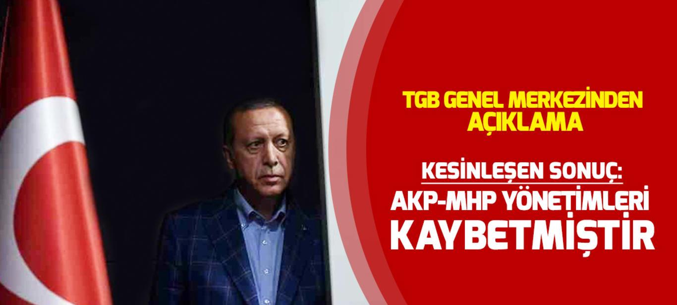 Kesin sonuç: AKP-MHP yönetimleri kaybetmiştir!