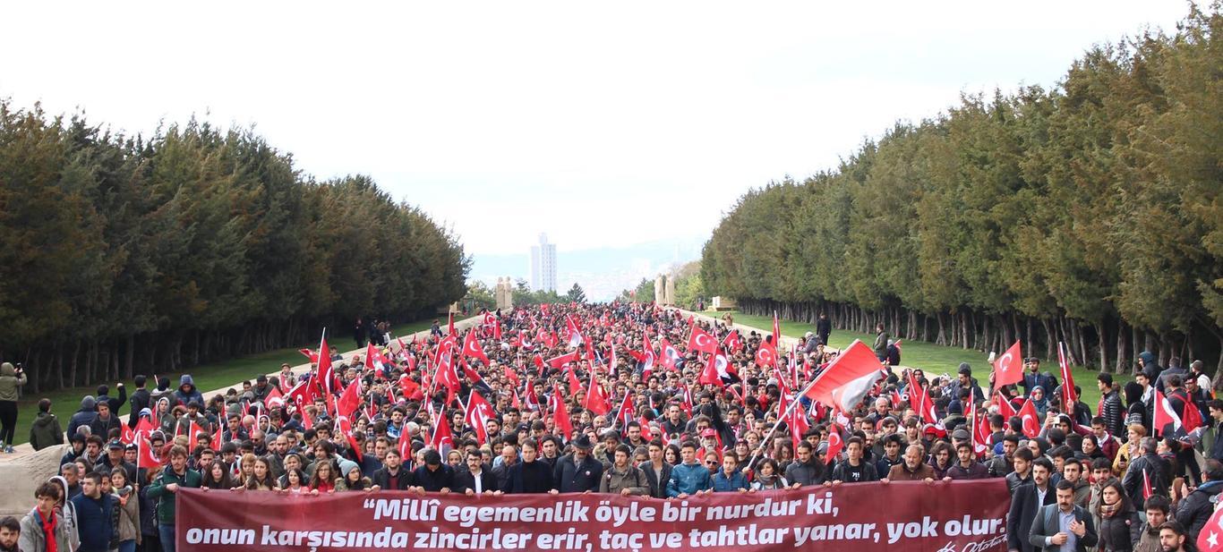 Milli birlik ve egemenliğimiz için yürüdük!