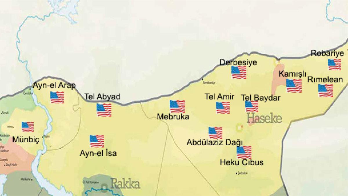 """ABD'nin Suriye'deki """"terör""""üsleri!"""