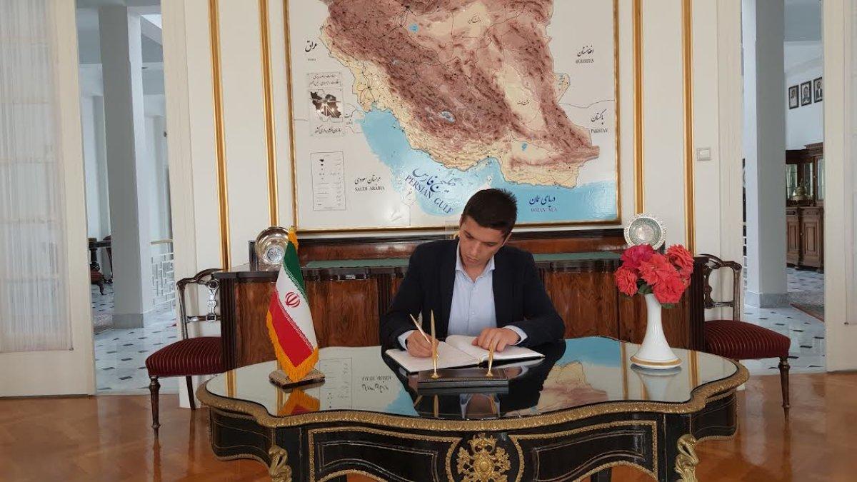 TGB'den İran Büyükelçiliği'ne taziye ziyareti