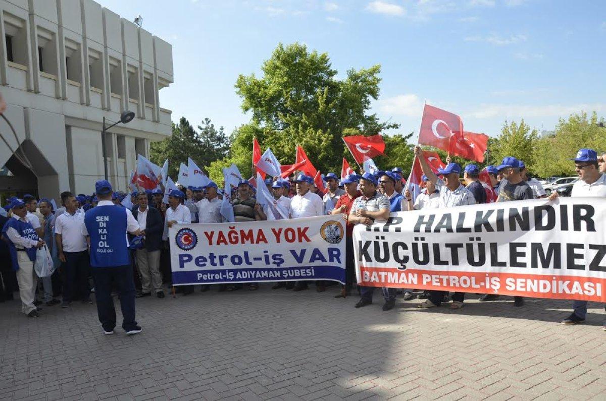 Petrol işçisi TP Genel Müdürlüğünü işgal etti