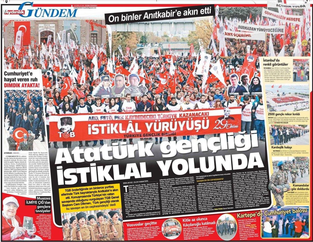Aydınlık Gazetesi - 30.10.2017