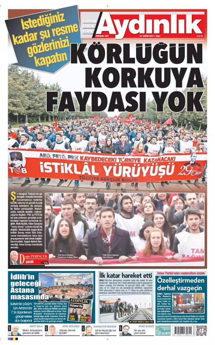 Aydınlık Gazetesi - 31.10.2017