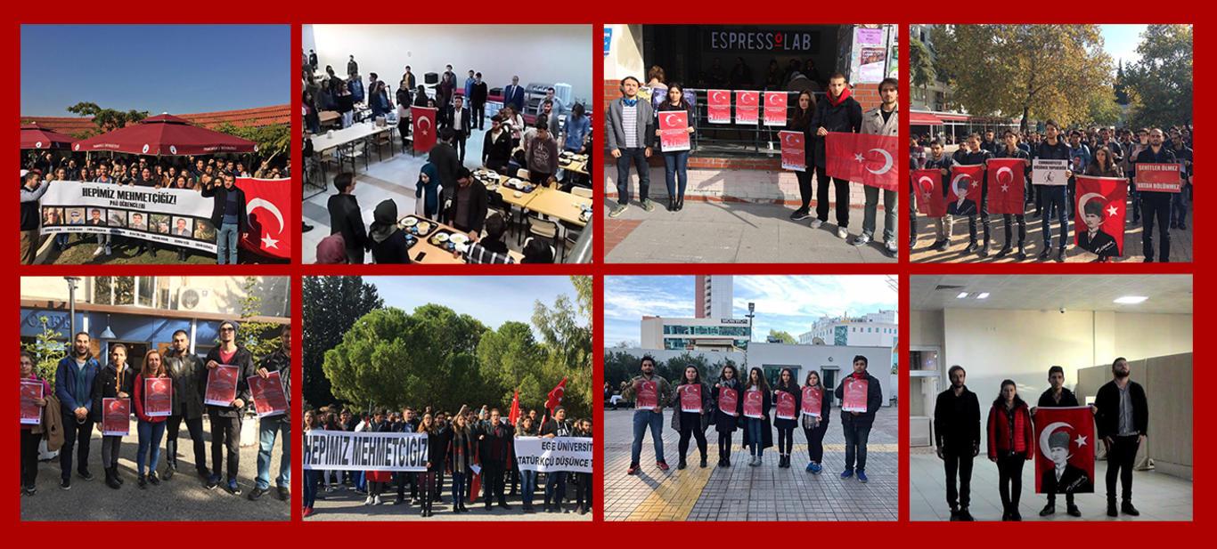 Türk gençliği teröre karşı tek yürek!