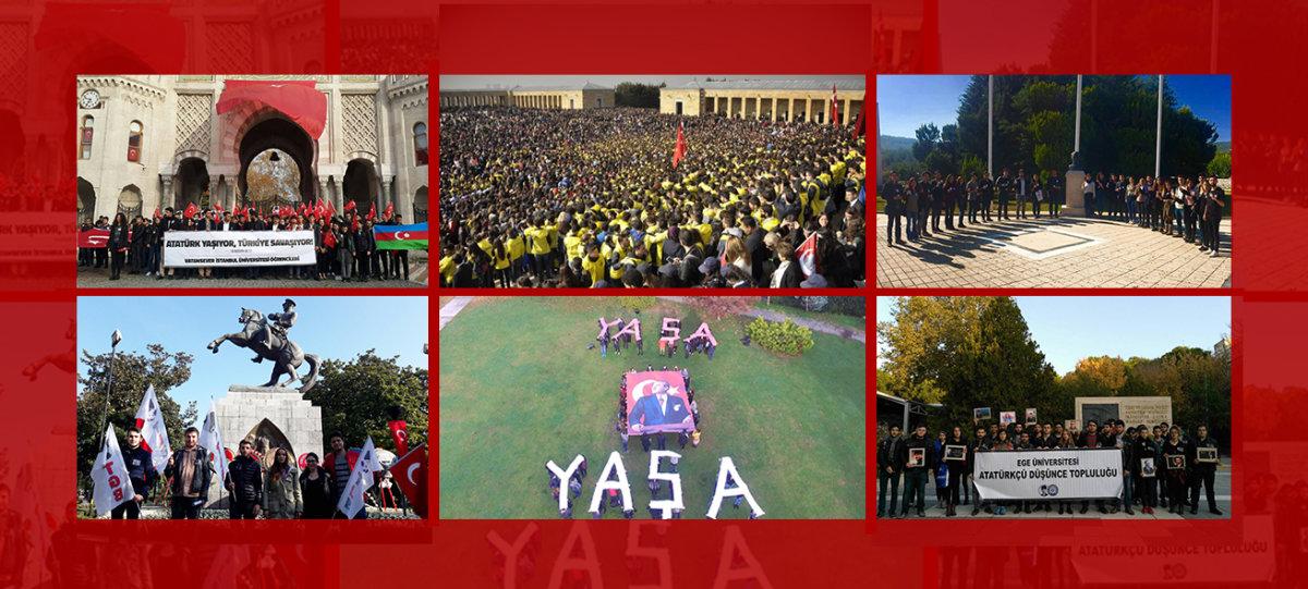 Türk gençliği Ata'sı için tek yürek oldu!