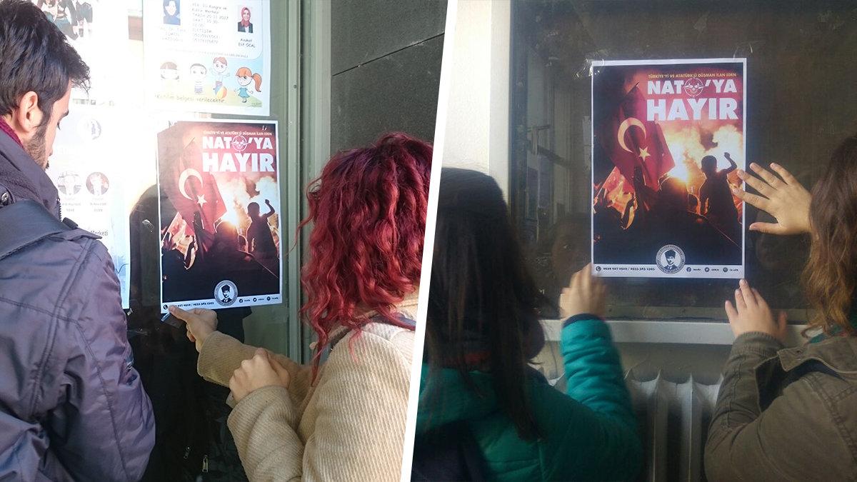 İstanbul Üniversitesi ADK: NATO'ya Hayır!