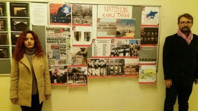 """TGB Beyazıt'tan """"NATO'ya Hayır"""" Sergisi"""