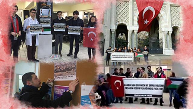 İstanbul'un üniversitelerinden Filistin'e destek!