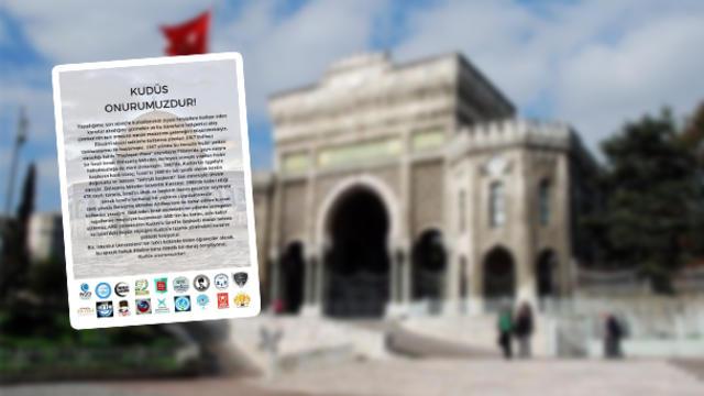 İstanbul Üniversitesi topluluklarından ortak açıklama: Kudüs onurumuzdur!