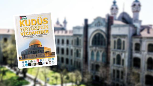 Marmara Üniversitesi öğrencileri Kudüs için tek ses!