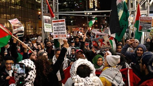 ABD'nin Kudüs kararı New York'ta protesto edildi