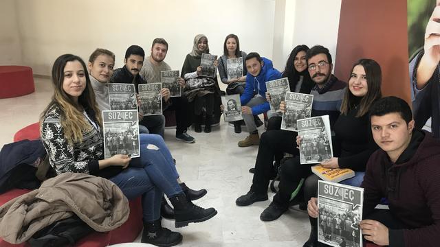 Hacı Bektaşi Veli Üniversitesi öğrencileri Kubilay'ı andı