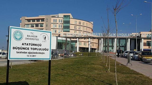 Balıkesir ADK üniversite kampüsünü ağaçlandırdı