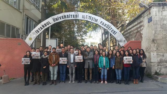 """İstanbul Üniversitesi öğrencileri """"Basında Sarraf Davası"""" söyleşisinde buluştu"""