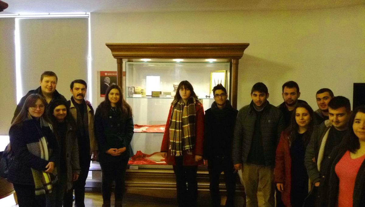 TGB DTCF Kubilay'ın kanlı şapkasının bulunduğu müzeyi gezdi