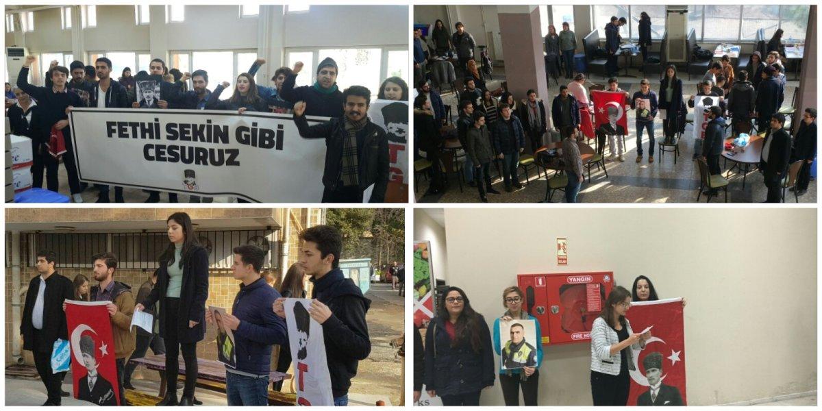 İzmir'in kampüsleri Fethi Sekin için ayağa kalktı