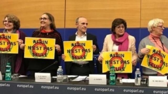 Avrupa Parlamentosu'nda Afrin operasyonuna karşı eylem!