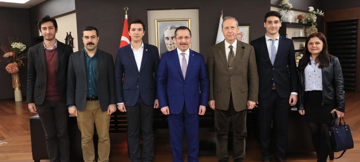 TGB'den PAÜ Rektörü Hüseyin Bağ'a ziyaret