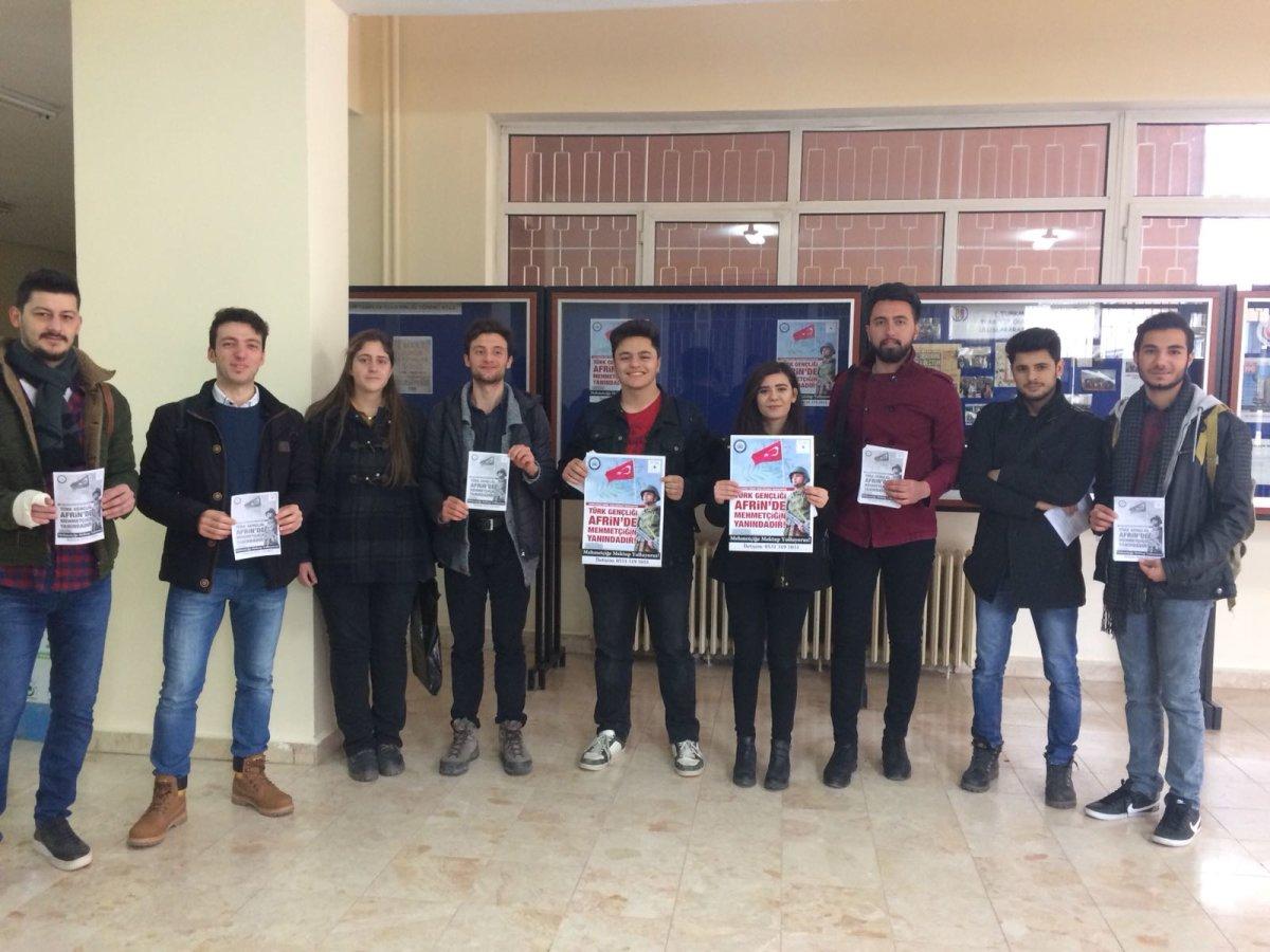 Osmangazi Fikir Kulübü Mehmetçiğe mektup kampanyası başlattı