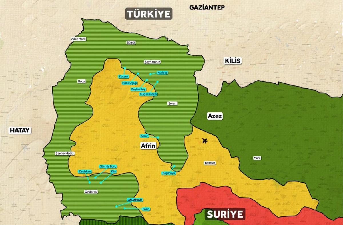 Mehmetçik Afrin merkezini kuşattı!