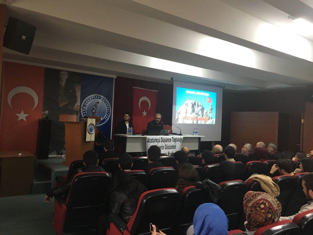 Afyon Kocatepe Üniversitesinde vatan savaşı konuşuldu