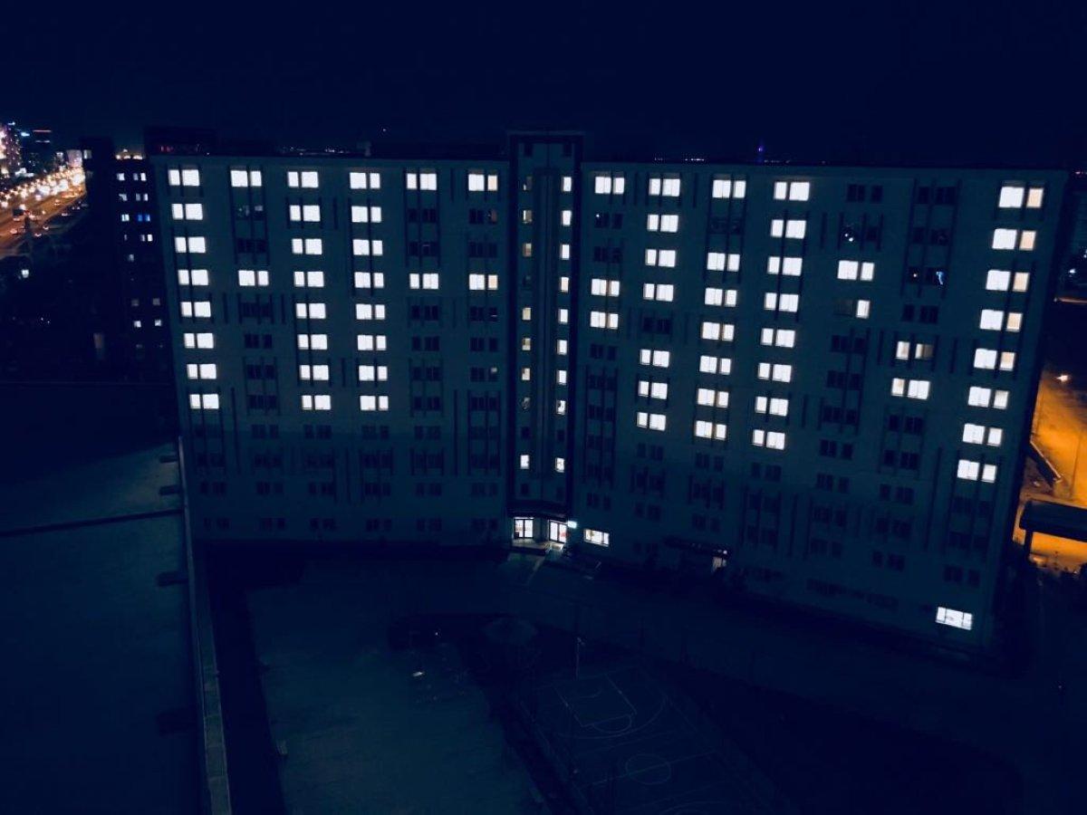Öğrenci yurtları ışıkları Mehmetçik için yaktı!