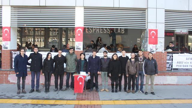 TGB Boğaziçi Üniversitesi'nde Afrin zaferini duyurdu!