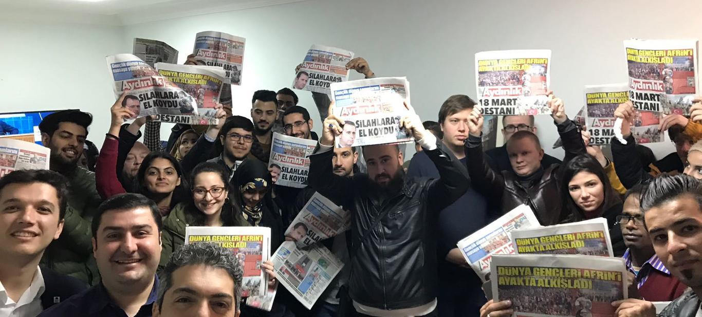 Anti-emperyalist gençlikten televizyon kanalı ve gazetelere ziyaret!