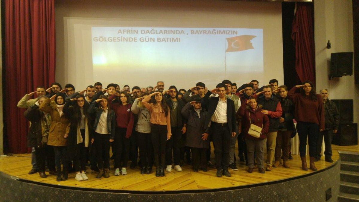 """Trakya ADT'den """"Siperin Gözünden Vatan Savaşı"""" etkinliği"""