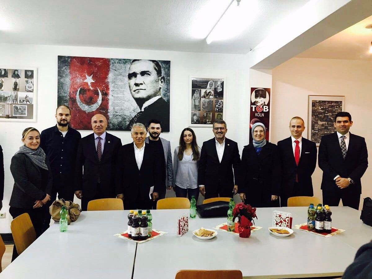 TBMM İnsan Haklarını İnceleme Komisyonu'ndan TGB Köln'e ziyaret