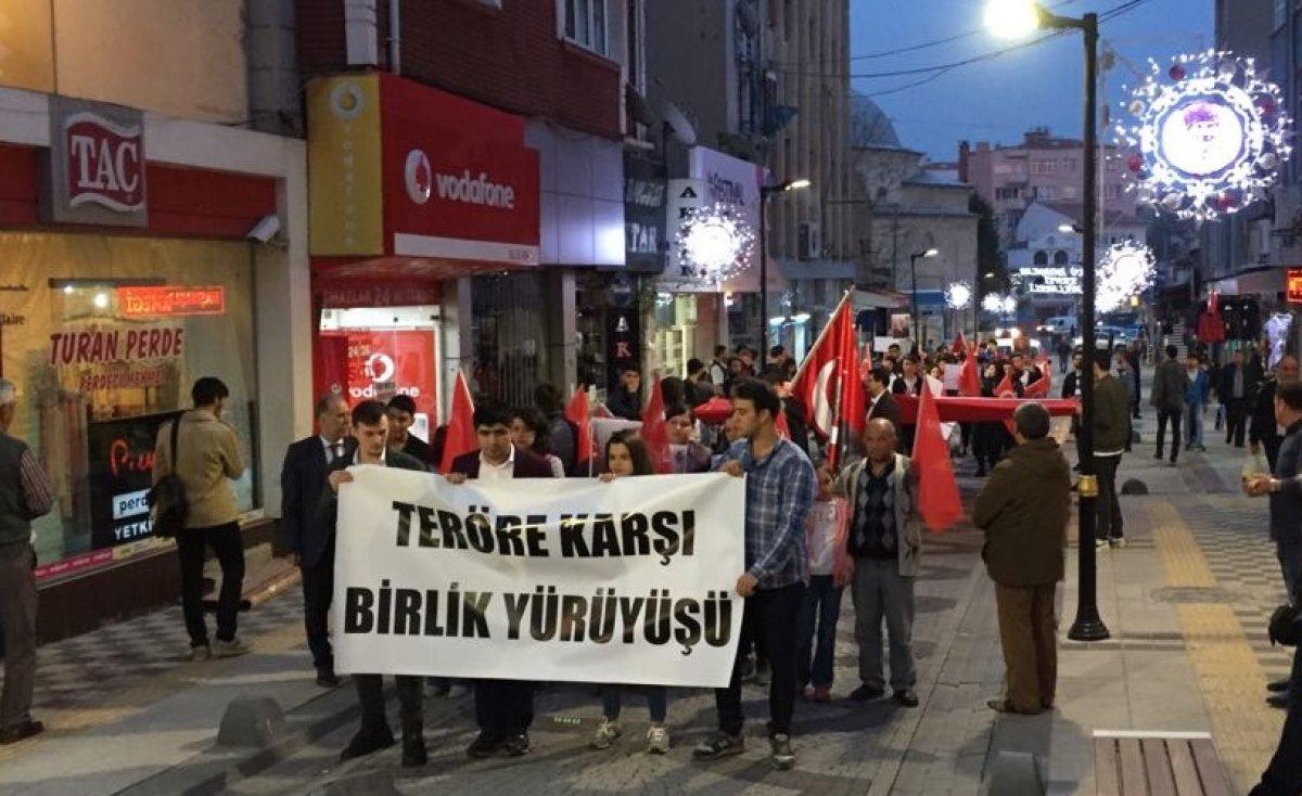 Kırklareli Üniversitesi ADK'dan Teröre Karşı Birlik Yürüyüşü