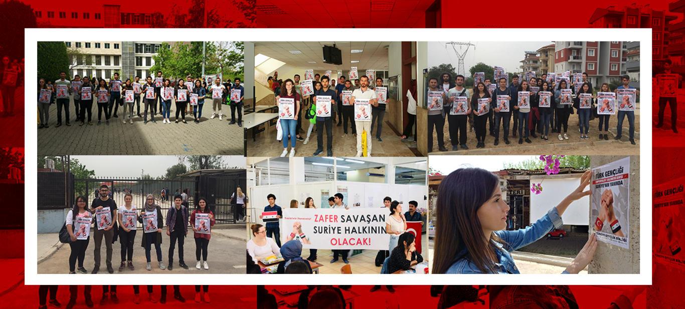 Türk gençliği emperyalizme karşı savaşan Suriye'nin yanında!