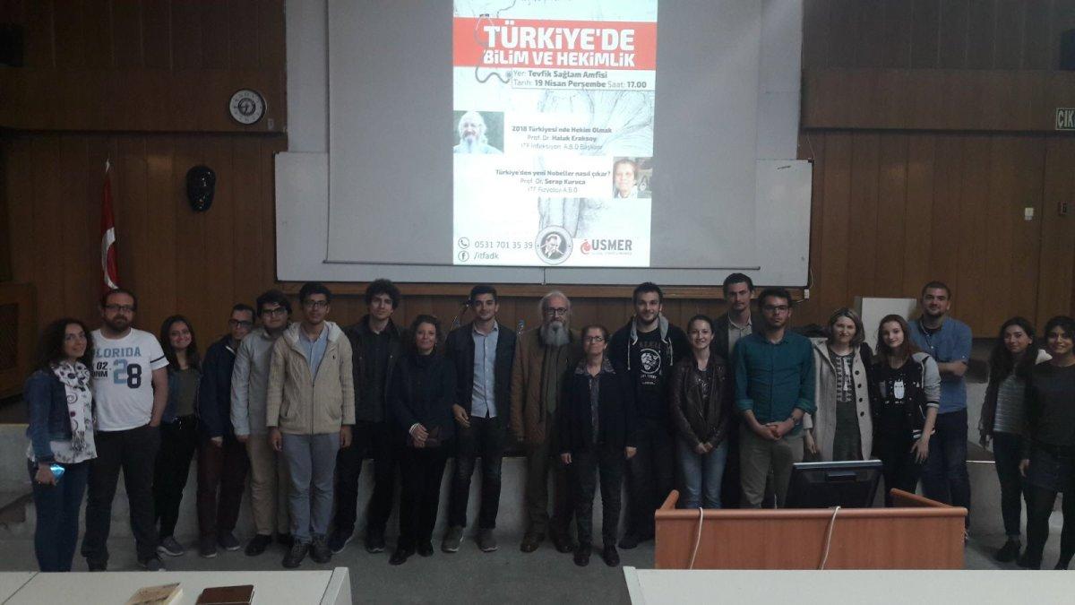 """Tıbbiyeliler """"Türkiye'de Bilim ve Hekimlik"""" etkinliğinde buluştu"""