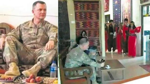 PKK/YPG'liler Amerikalı generali böyle eğlendirdi