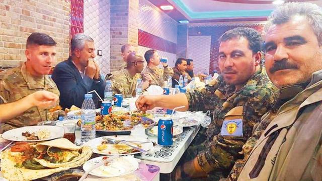 ABD ve PKK Münbiç'te Terör Yemeği Yediler
