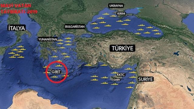 Türkiye Düşmanı İttifak Girit'e Üs Kuruyor