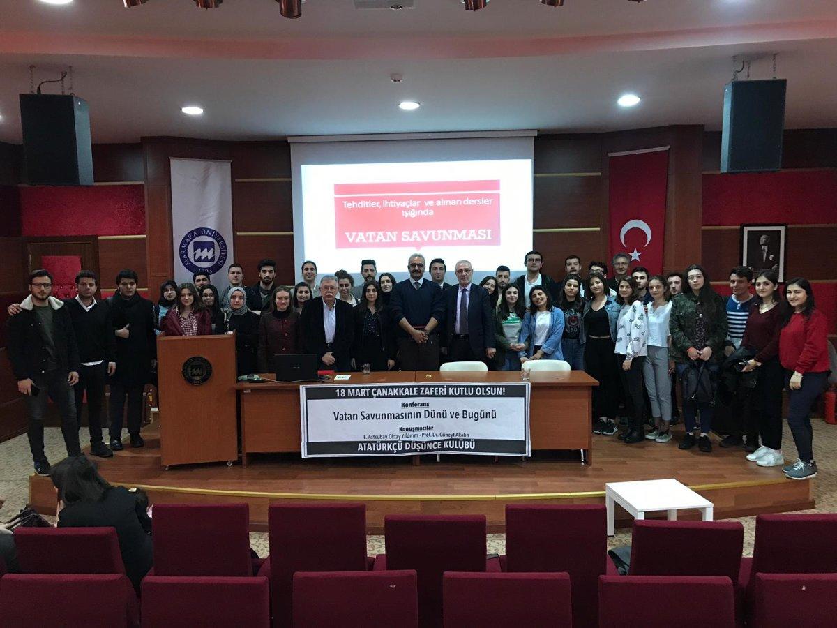 Çanakkale Ruhu Zaferin 104. Yılında Marmara Üniversitesi'nde Yeniden Canlandı