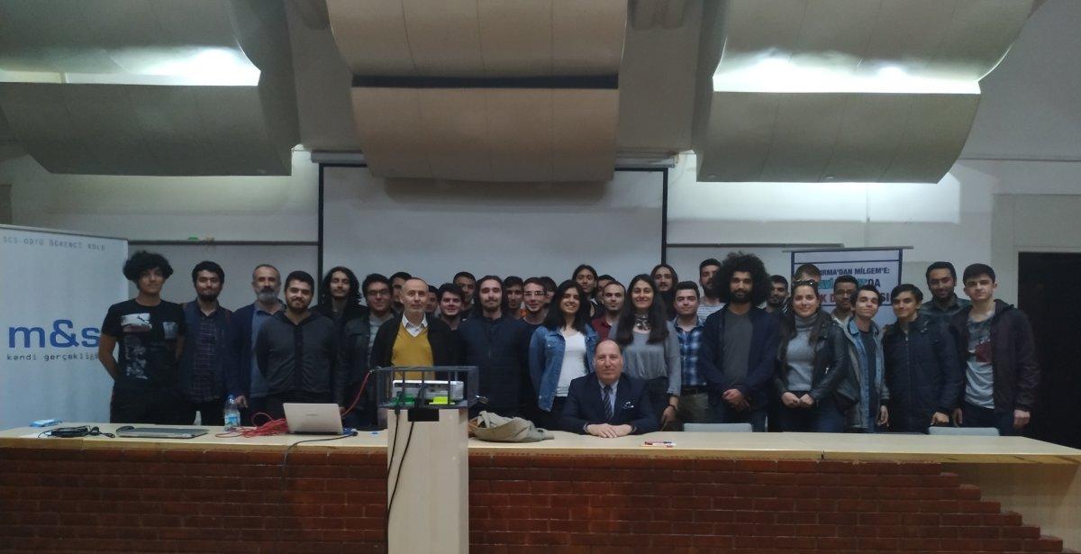 Emekli Tümamiral Cem Gürdeniz ODTÜ Öğrencileriyle Buluştu
