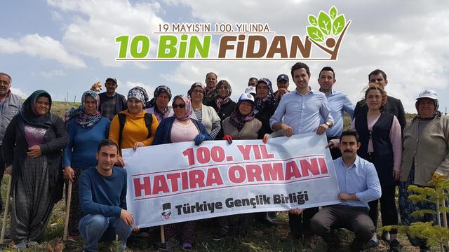 Bozkırın Ortasında 100. Yıl Gençlik Ormanı Yeşeriyor