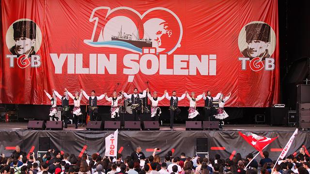 Atatürk Gençliği 100 Yılın Şöleni'nde Umudu Büyüttü