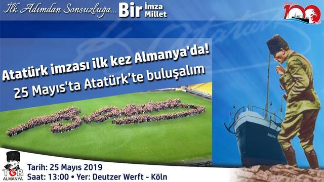 Almanya 19 Mayıs'ın 100. Yılında Atatürk'te Kenetleniyor