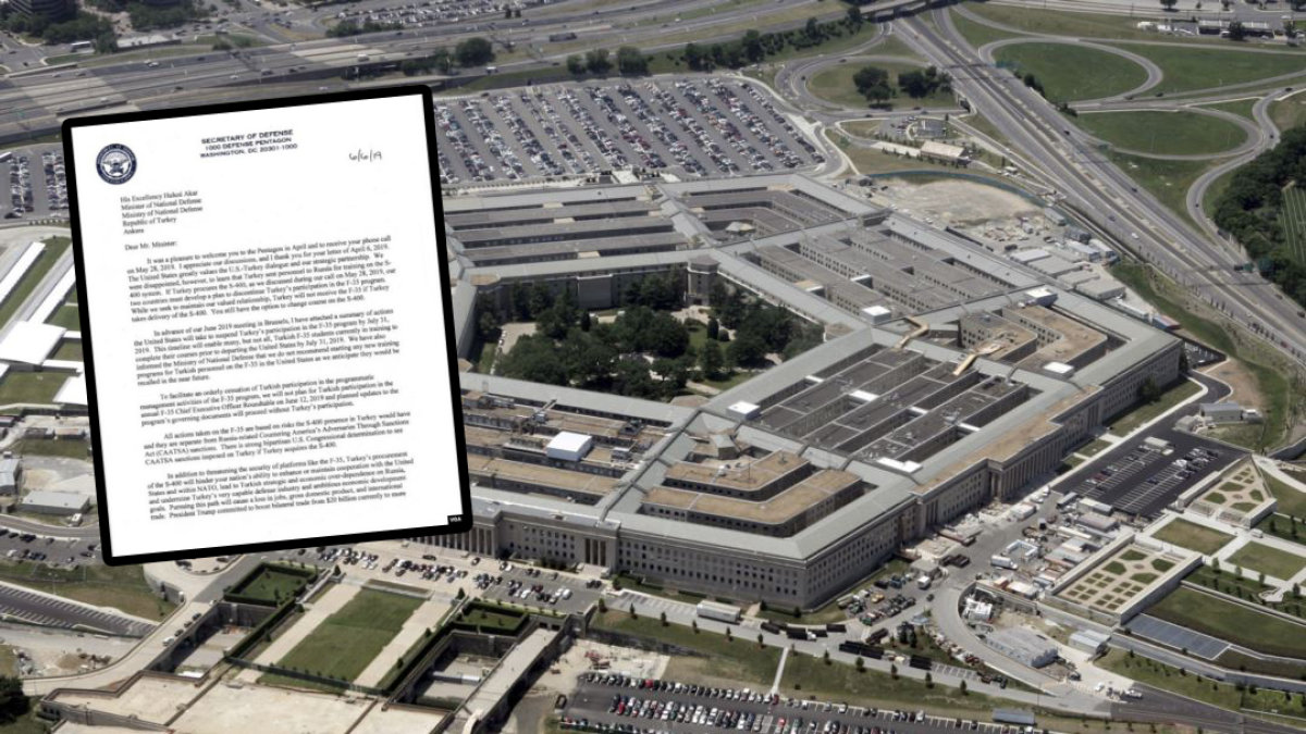 Pentagon'dan Türkiye'ye Tehditkar Mektup!
