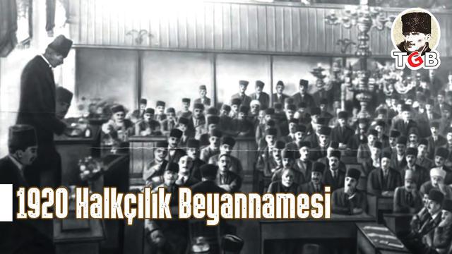 Atatürk'ün Halkçılık Beyannamesi