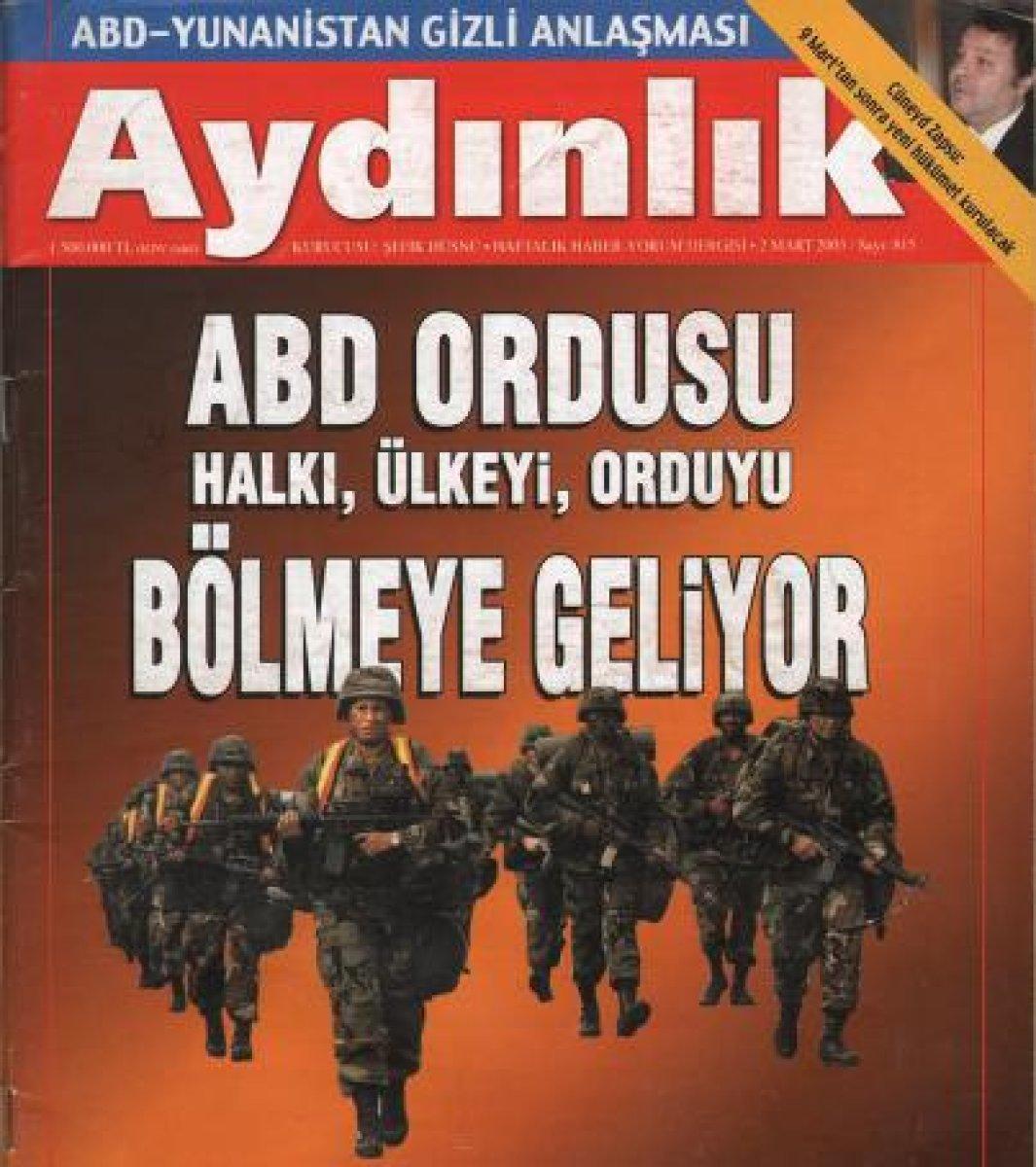 Dönemin Aydınlık Gazetesi Manşeti