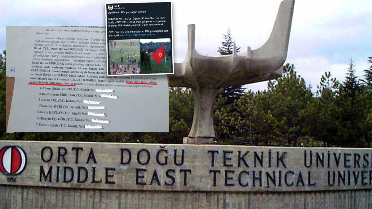 TGB'ye Bıçaklarla Saldıran ODTÜ'deki PKK Yandaşları Kimler?