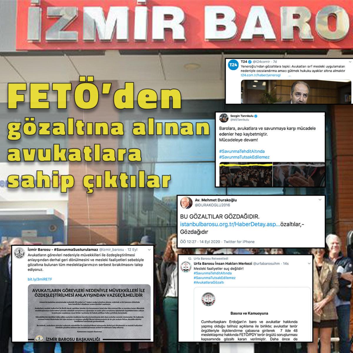FETÖ'den gözaltına alınan avukatlara sahip çıktılar