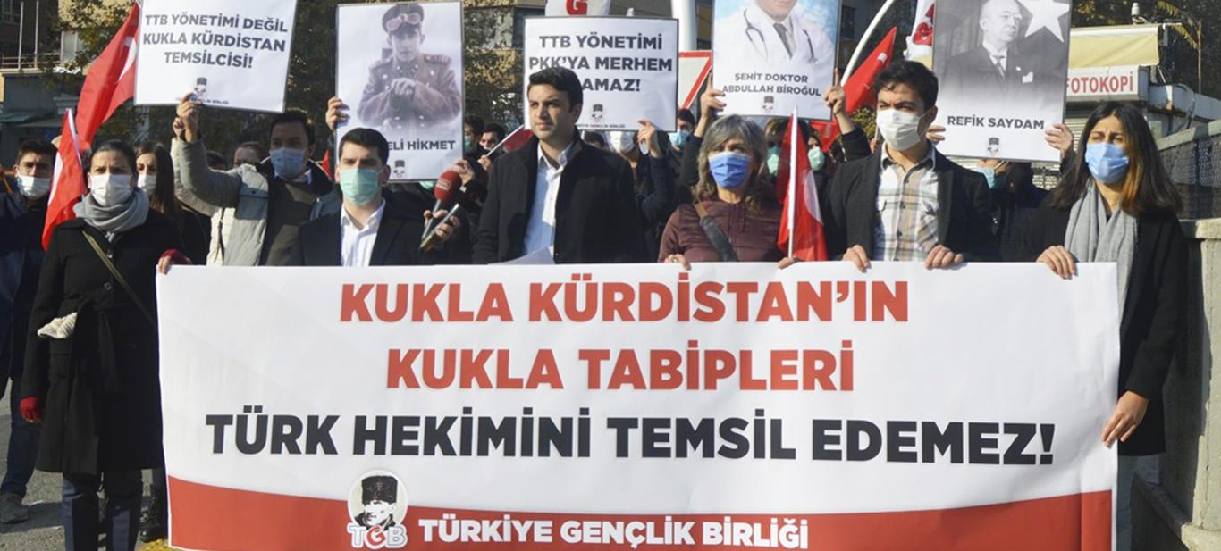 TGB'den Tabipler Birliği Protestosu: Kukla Kürdistan'ın Kukla Hekimleri